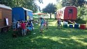 Drei bunte Zirkuswagen kommen bis Mitte August in die fünf Stadtteile Hermershausen, Bauerbach, Michelbach, Schröck und zu guter Letzt nach Ginseldorf.
