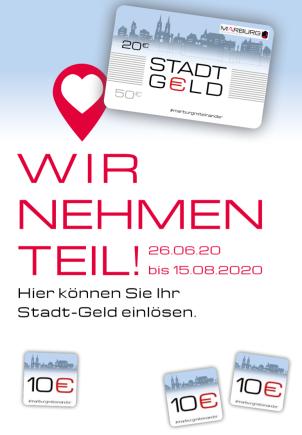Stadt-Geld WIR NEHMEN TEIL!©Universitätsstadt Marburg
