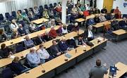 Rund 70 Zuhörerinnen und Zuhörer verfolgten die Diskussion über Flüchtlingspolitik an Europas Grenzen.