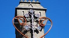 Spiegelslustturm mit Lichtkunstwerk