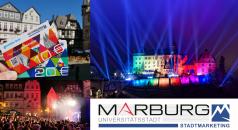 Logo Stadtmarketing - Marburg Gutschein - Schloss beleuchtet