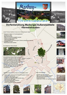 Stadtteilplakat aus Hermershausen zur Dorfentwicklung Marburg©Universitätsstadt Marburg