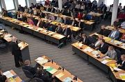 Die Marburger Stadtverordnetenversammlung bei ihrer Konstituierung am 22. April 2016.