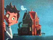 """Cover des Buches """"Nirgendwo ein stiller Ort"""" mit einem Jungen und einem geheimnisvollen Haus im Hintergrund."""