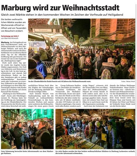 .©Oberhessische Presse, Ausgabe vom 02.12.2019