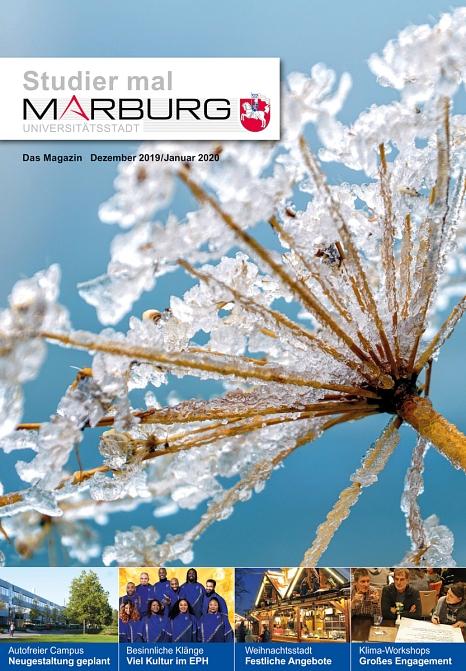 Studier mal Marburg Dezember 2019/Janaur 2020 Titelbild©Universitätsstadt Marburg