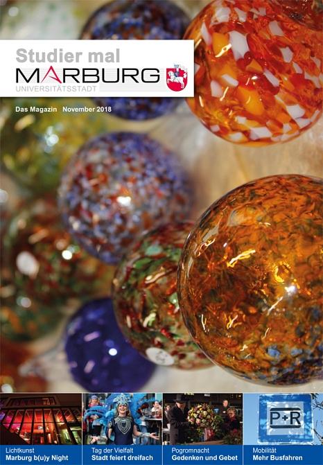 Das neue Studier mal Marburg für November ist da.©Universitätsstadt Marburg
