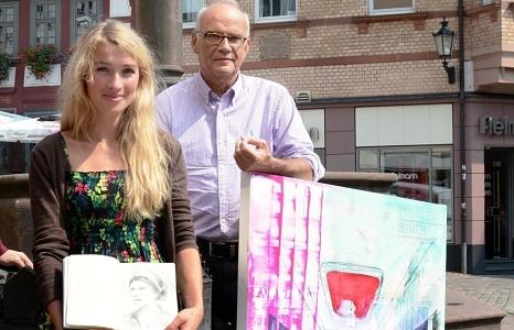 Um 14 Uhr werden die Kunstwerke von Julia Kneise (Eisenach) und Richard Stumm (Marburg) bei einer Vernissage im Erwin-Piscator-Haus vorgestellt. Beide waren als Stadtgäste in der anderen Partnerstadt zu Gast und haben ihre Eindrücke künstlerisch verarbeit©Stadt Marburg