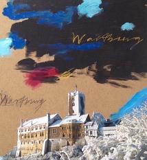 Um 14 Uhr werden die Kunstwerke von Julia Kneise (Eisenach) und Richard Stumm (Marburg) bei einer Vernissage im Erwin-Piscator-Haus vorgestellt. Beide waren als Stadtgäste in der anderen Partnerstadt zu Gast und haben ihre Eindrücke künstlerisch verarbeit