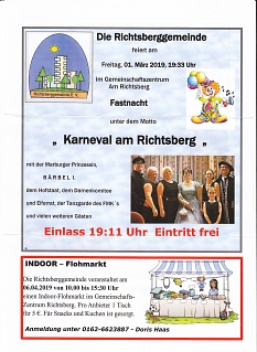 Termine Richtsberggemeinde e.V. März-April-2019©Richtsberggemeinde e.V.