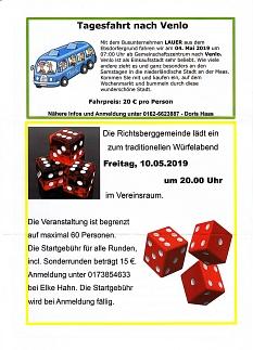 Termine Richtsberggemeinde e.V.  Mai 2019©Richtsberggemeinde e.V.