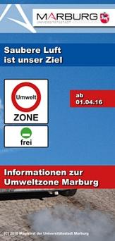 Titelbild-Faltblatt-Umweltzone-und-Luftreinhaltung-Marburg©Universitätsstadt Marburg