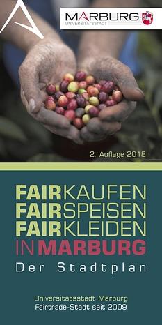 Titelbild Marburger Fairer Stadtplan, Auflage 2 von 2018©Universitätsstadt Marburg