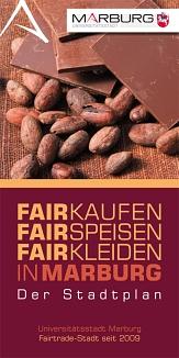 Titelblatt des Fairen Stadtplans von Marburg©Universitätsstadt Marburg Fachdienst Umwelt, Fairer Handel, Abfallwirtschaft