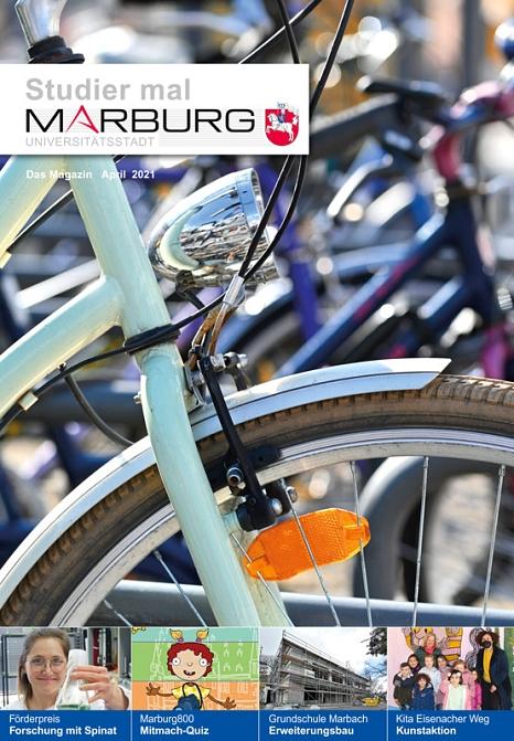 """Die neue Aprilausgabe von """"Studier mal Marburg"""" ist da.©Universitätsstadt Marburg"""