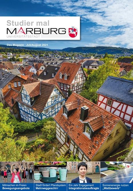 """Die Ausgabe von """"Studier mal Marburg"""" für Juli und August ist da.©Universitätsstadt Marburg"""
