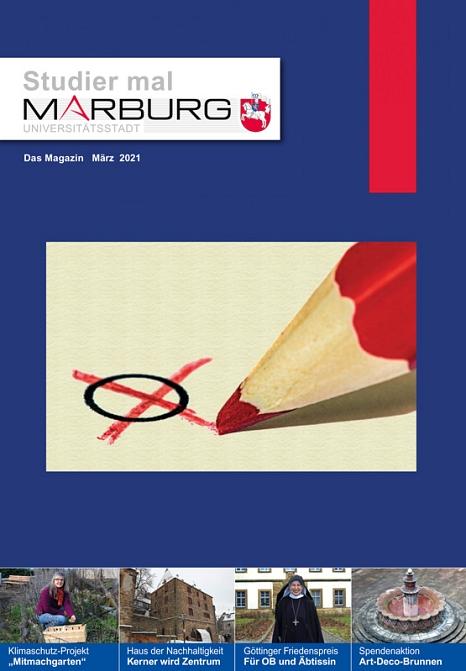 """Die neue Märzausgabe von """"Studier mal Marburg"""" ist da.©Universitätsstadt Marburg"""
