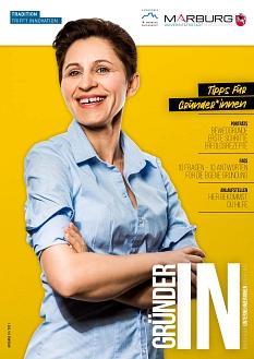 """Die Titelseite des neuen Magazins """"GründerIN""""©Universitätsstadt Marburg"""