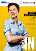 """Die Titelseite des neuen Magazins """"GründerIN"""""""
