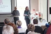 Stadträtin Dr. Kerstin Weinbach begrüßte die Gäste und  den Referenten Hans-Jürgen Blinn zum Vortrag über die Folgen von CETA und TTIP für Bildung und Kultur beim Marburger Kulturforum.