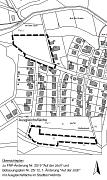 """Übersichtsplan zu FNP-Änderung Nr. 25/9 und BPlan Nr. 25/12, 1. Änd. """"Auf der Jöch"""" mit Ausgleichsfläche im Stadtteil Wehrda"""