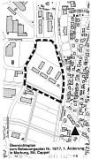Übersichtsplan zum Bebauungsplan Nr. 18/17, 1. Änderung in Marburg, Stt. Cappel