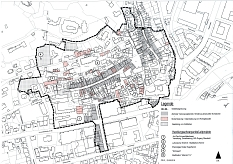 Übersichtsplan zum Plangebiet mit Leitprojekten