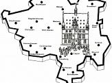 Umrisszeichnung des Marburger Stadtgebietes©Universitätsstadt Marburg