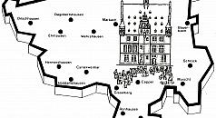 Umrisszeichnung des Marburger Stadtgebietes