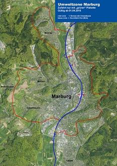 Umweltzone Marburg©Universitätsstadt Marburg