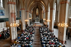 """Voll besetzt war die Lutherische Pfarrkirche im April 2019 zur Preisverleihung. Die nächste Festveranstaltung findet 2021 zu """"500 Jahre Reichstag zu Worms"""" statt.©Georg Kronenberg"""