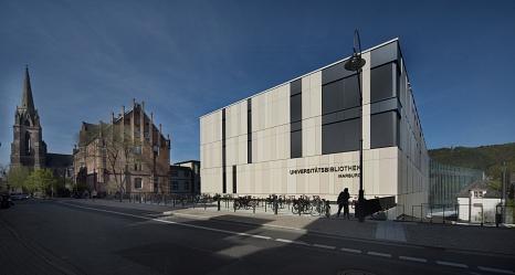 Außenansicht der neuen Universitätsbibliothek Marburg©Heike Heuser