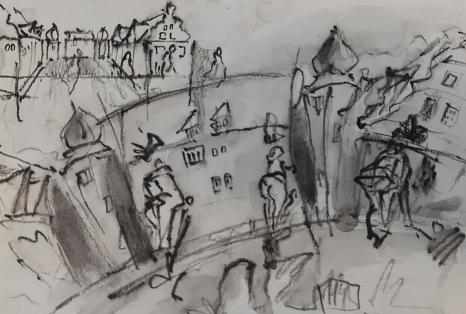"""Die Volkshochschule der Universitätsstadt Marburg bietet ab sofort einzelne Kurse, zum Beispiel zum """"Urban Sketching"""", in Präsenz an.©Randi Grundke, Künstlerin"""