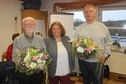 Verabschiedung ehemaliger Ortsbeiratsmitglieder Richtsberg (v.l. Reinhold Wind, Erika Lotz-Halilovic und Gerhard Jans)
