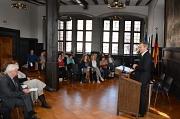 """Oberbürgermeister Dr. Thomas Spies begrüßte die Gäste der Veranstaltung zum Thema """"Deutschland - Bordell Europas?"""" im Rahmen der Europawoche im Historischen Rathaussaal. Die Veranstaltung war für die lokale Bürgerinitiative gegen ein Bordell ein wichtiges"""