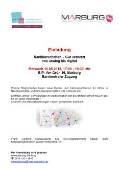 Veranstaltungen gut vernetzt, von analog bis digital©Universitätsstadt Marburg