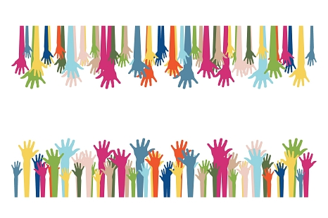 Viele Hände©pixabay_volunteers