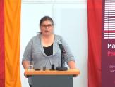 """Sabine Schlegel aus der Koordinations- und Servicestelle stellt das Projekt auf der internationalen digitalen Fachtagung """"Marburg ohne Partnergewalt"""" vor©Universitätsstadt Marburg"""