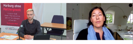 Gespräch und Diskussion mit Dr. Monika Schröttle nach ihrem Vortrag©Universitätsstadt Marburg