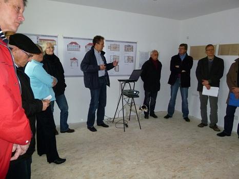 Vortrag zum Thema substanzielle und energetische Sanierung im Einklang mit dem Denkmalschutz im Gebäude Lingelgasse 13a©Universitätsstadt Marburg