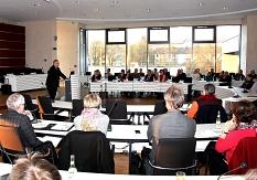 """Dr. Jürgen Gohde vom Kuratorium Deutsche Altershilfe referierte im Landratsamt zum Thema  """"Die Zukunft der Pflege liegt im Quartier"""".©Landkreis Marburg-Biedenkopf"""