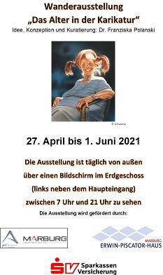 Wanderausstellung Das Alter in der Karikatur©Universitätsstadt Marburg