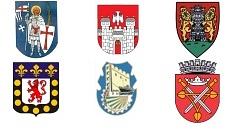 Wappen der Partnerstädte