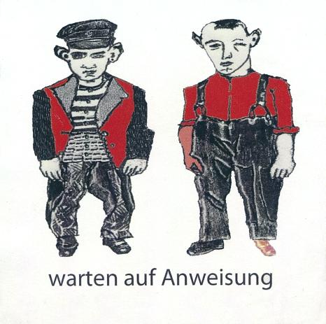 """Die Zeichnung """"warten auf Anweisung"""" von Ana Laibach, künstlerische Leiterin und Dozentin der Sommerakademie, gibt auf humoristische Weise ein Stimmungsbild der momentanen Lage wieder.©Ana Laibach"""