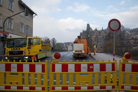 Weidenhäuser Brücke - Start der Bauarbeiten©Stadt Marburg, Patricia Grähling