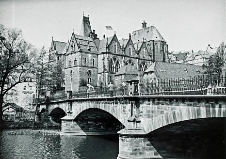 Weidenhäuser Brücke 1927©Stadtarchiv Marburg