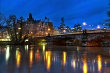 Weidenhäuser Brücke bei Nacht