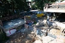 Die Brücke zum Rudolphsplatz ist abgerissen.