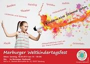 """Das Marburger Weltkindertagsfest findet in diesem Jahr im Stadtwald unter dem Motto """"Kindern eine Stimme geben!"""" statt."""