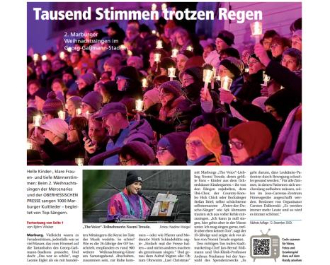 .©Oberhessische Presse, Ausgabe vom 16.12.2019